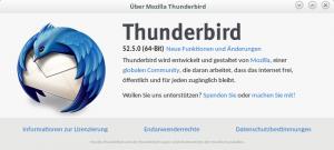 Thunderbird About infos 52.5.0