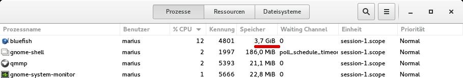 3.7 GByte RAM verbrauch für ein 2 GB SQL File