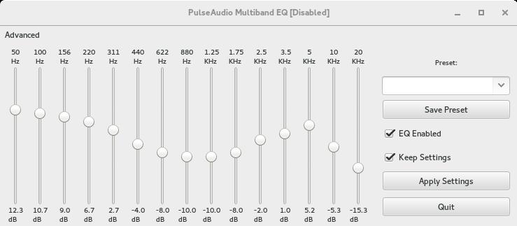 Pulseaudio-Equalizer