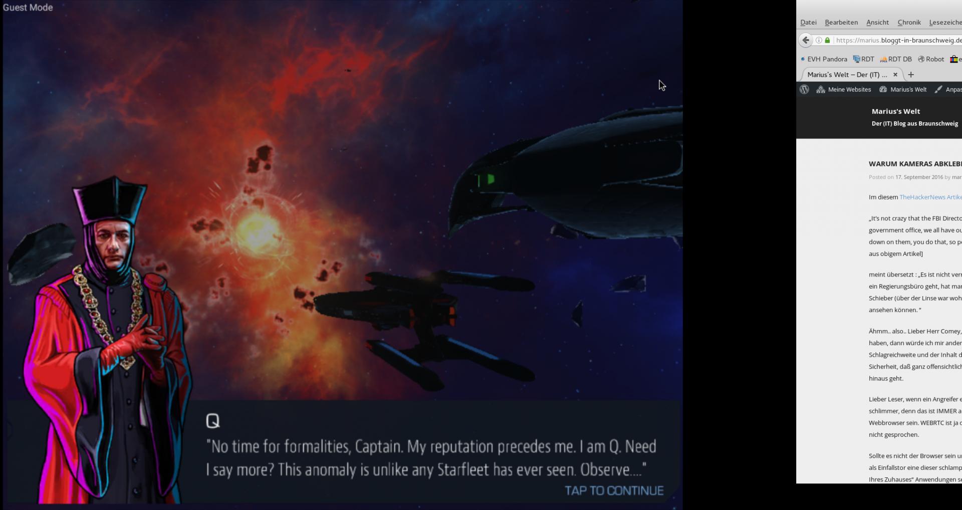 Star Trek (tm) - Timelines im Fullscreenmodus von Boxen