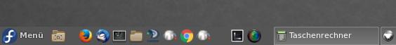 Schnellstartleiste ohne Icon