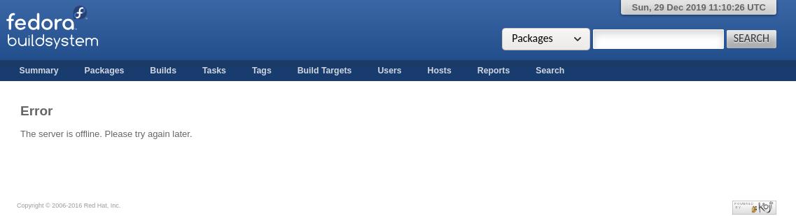 Fehlermeldung Server ist offline