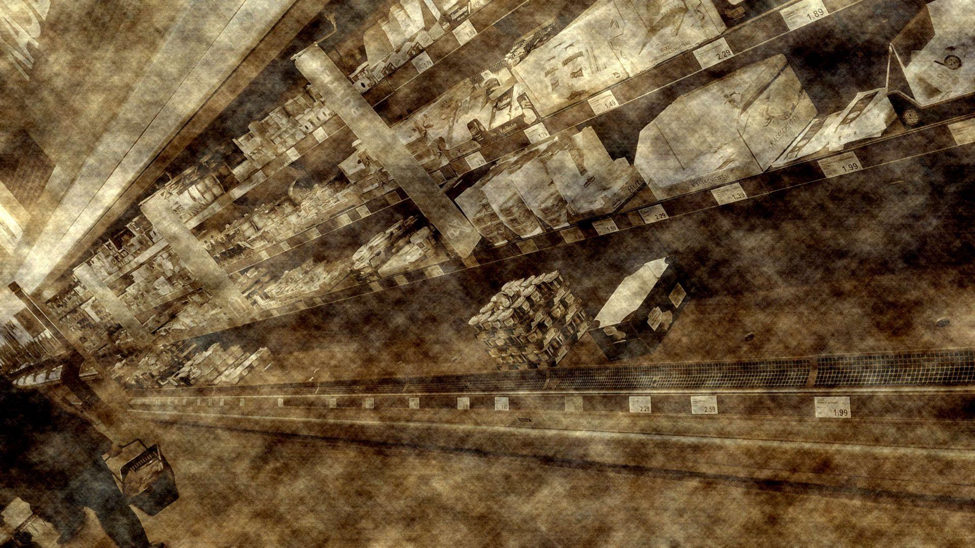 Sie sehen nicht den Interspar 1979 mit leeren Regalen, es ist nur Aldi Nord 2020 :)
