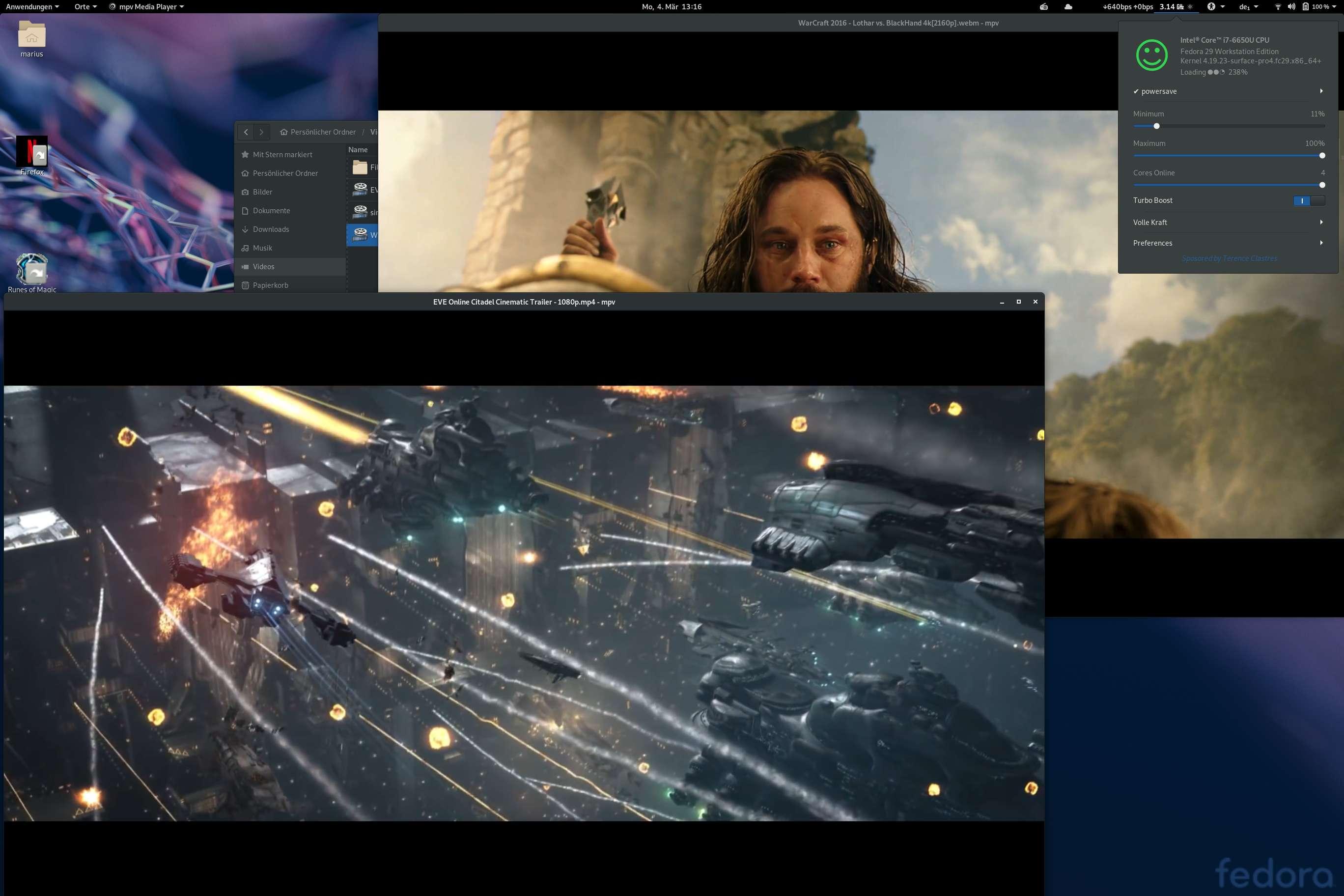 FullHD und 4k UHD Videos mit MPV